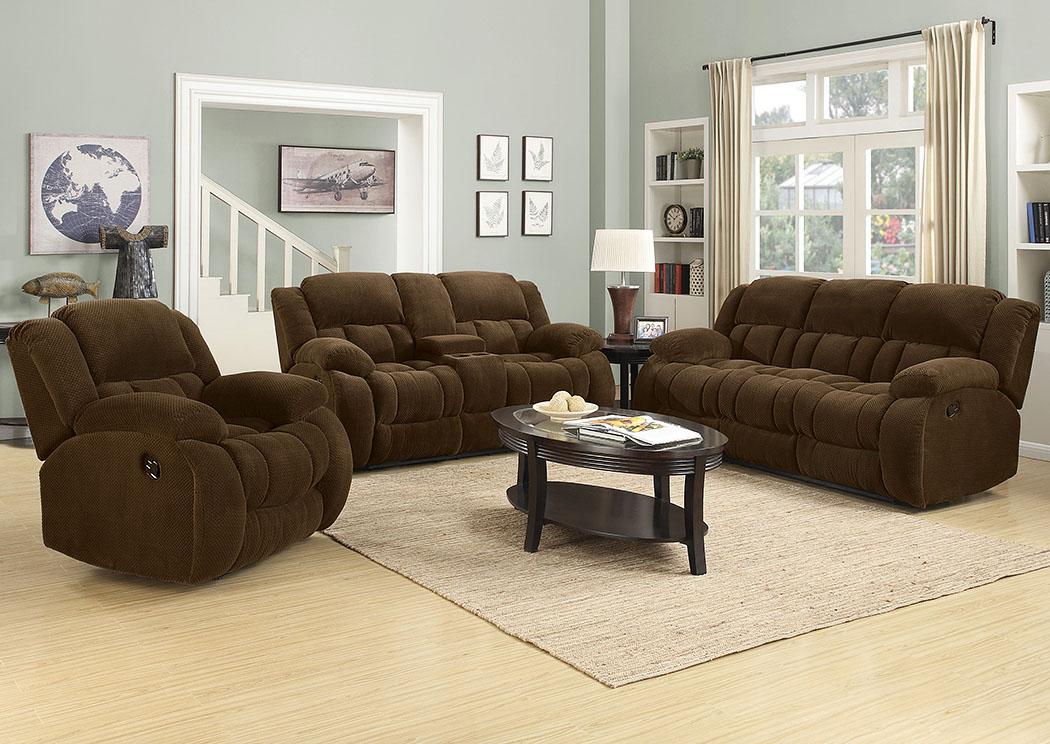 WCC Furniture Lafayette LA Brown Reclining Sofa & Loveseat