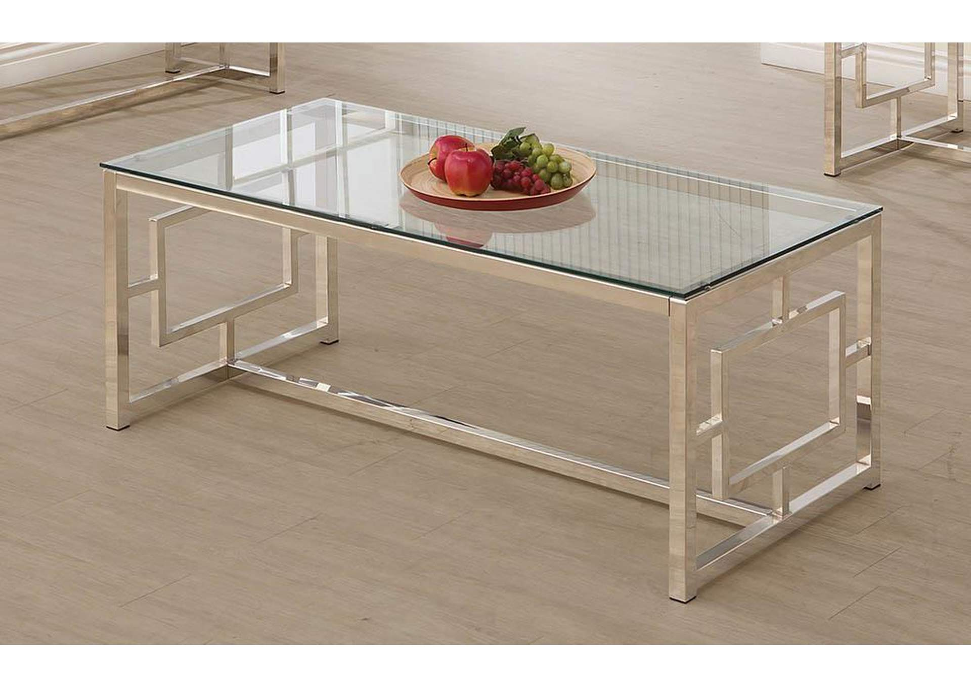 Furniture Palace Satin Plated Coffee Table