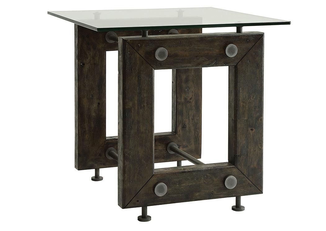 WCC Furniture Lafayette LA Brown Black End Table