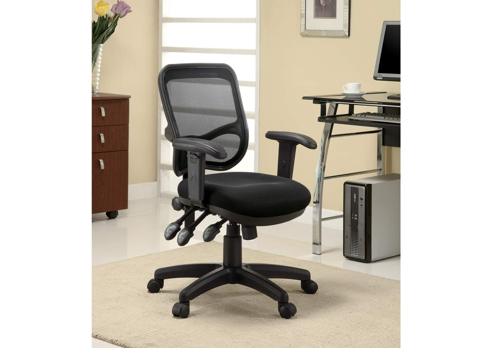 galaxy furniture chicago il black mesh back office chair