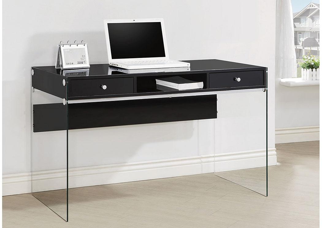 Furniture Palace Glossy Black Computer Desk