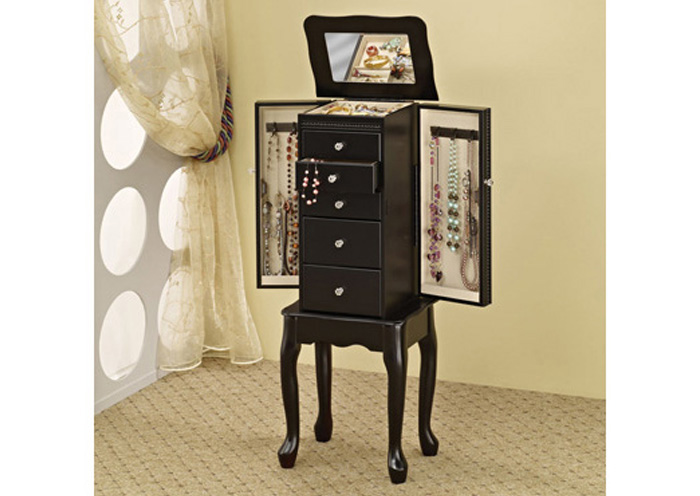Furniture Palace Black Jewelry Armoire