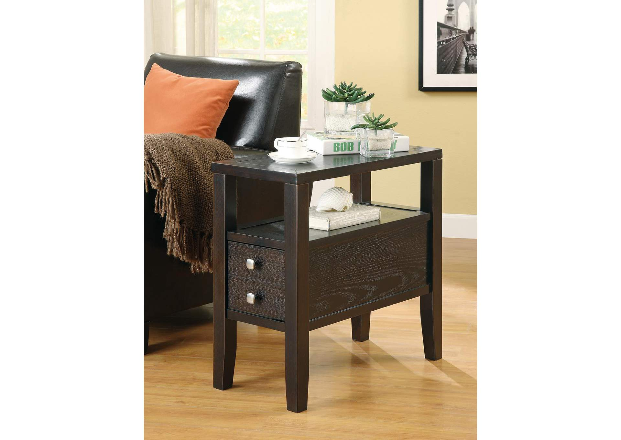 Compass Furniture Jefferson La Cappuccino Accent Table