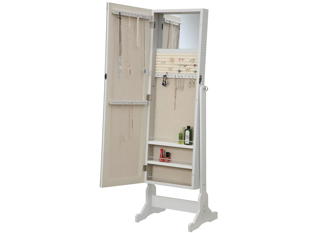 Fat Daddy s Furniture White Jewelry Armoire