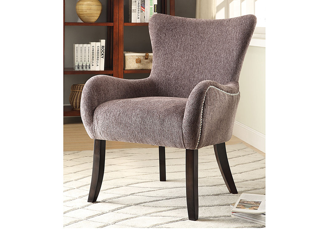 Your Cost Furniture Grey Accent Chair