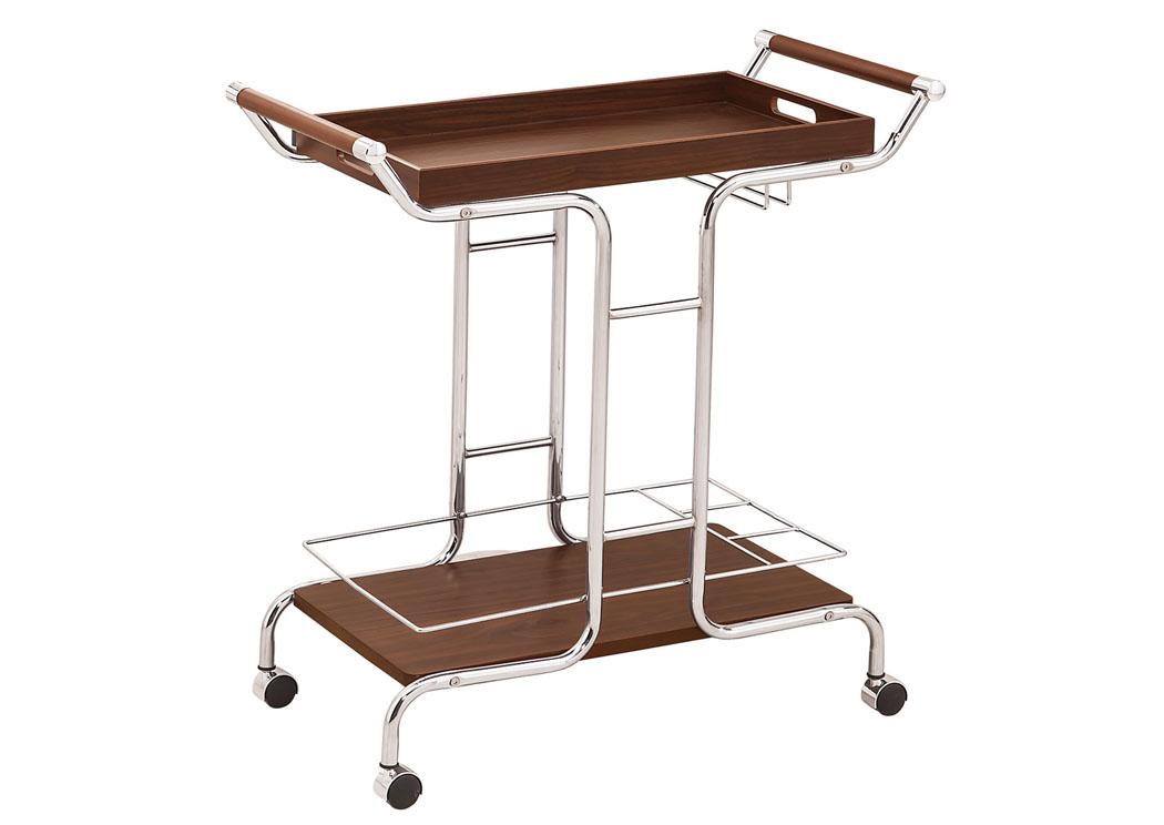 Furniture Palace Chrome Serving Cart