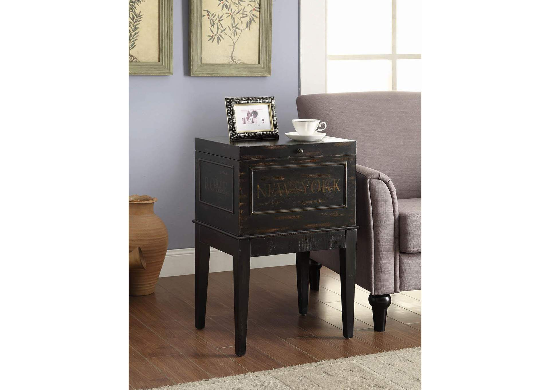Furniture Palace Bronze Accent Cabinet
