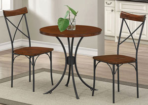 Jervis Collection Caramel Brown/ Sandy Black 3 Pc Set,Coaster Furniture