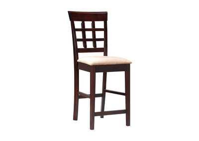 Mocha & Cappuccino Wheat Back Bar Stool (Set of 2),Coaster Furniture