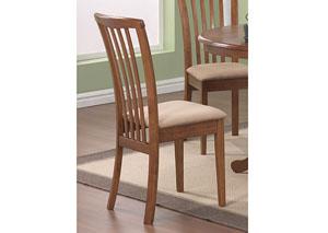 Beige & Oak Zeta Chair (Set of 2)