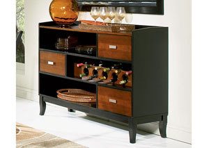 Boyer Black / Cherry Server,Coaster Furniture