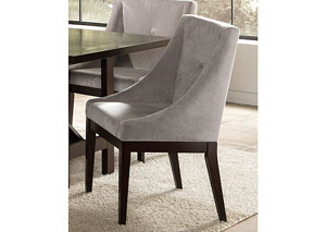 Grey & Cappuccino Accent Chair (Set of 2)