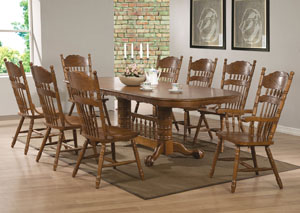 Brooks Oak Dining Table,Coaster Furniture