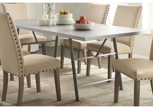 Amherst Deep Zinc Dining Table