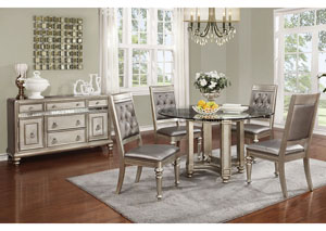 Round Dining Table w/ 4 Side Chairs