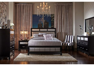 Barzini Black Queen Bed,Coaster Furniture