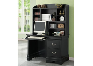 Louis Philippe Black Study Desk