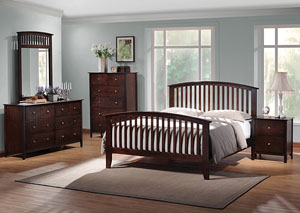 Tia Cappuccino Queen Bed, Dresser & Mirror