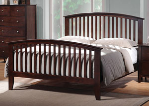 Tia Cappuccino Queen Bed,Coaster Furniture