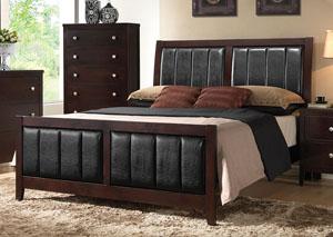 Solid Wood & Veneer Queen Bed