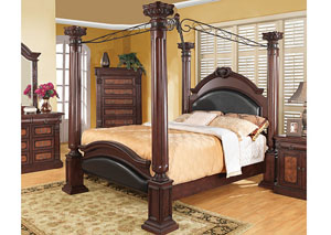 Grand Prado Black & Cherry Queen Bed,Coaster Furniture