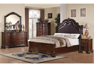 Maddison Queen Bed, Dresser, Mirror & Chest,Coaster Furniture