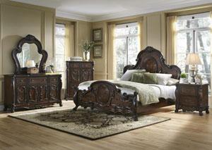 Abigail Queen Bed, Dresser & Mirror,Coaster Furniture