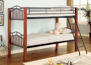 Twin/Twin Bunkbed (Convertible/detachable),Coaster Furniture