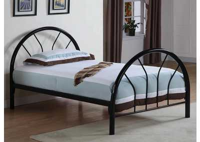 Black Metal Twin Bed