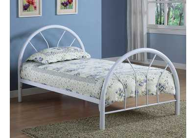 White Metal Twin Bed,Coaster Furniture