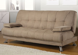 Tan Microfiber Sofa Bed,Coaster Furniture
