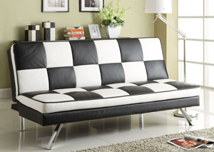 Black & Chrome Sofa Bed