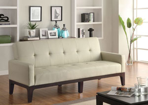 Cream & Cappuccino Sofa Bed