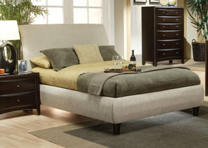 Phoenix Beige King Bed Fabric,Coaster Furniture