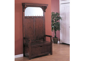 Hall Tree w/ Mirror & Storage Bench
