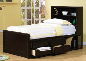 Phoenix Cappuccino Full Bed,Coaster Furniture