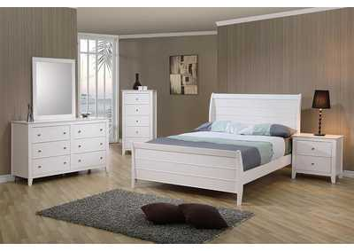 Selena White Twin Bed,Coaster Furniture