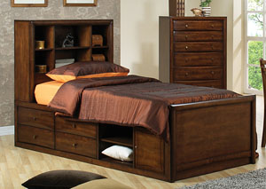 Scottsdale Walnut Storage Full Bed,Coaster Furniture