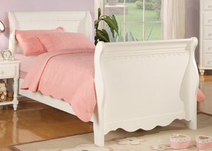 Pepper White Full Size Bed