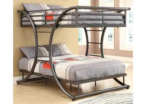 Gunmetal Full/Full Bunk Bed