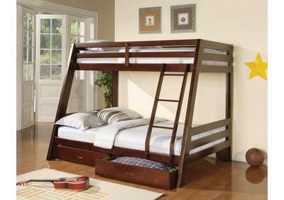 Twin/Full Bunk Bed,Coaster Furniture