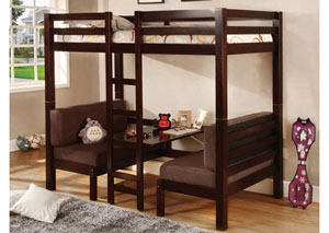 Twin/Twin Bunkbed (Convertible Table w/ Seating),Coaster Furniture