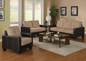 Regatta Cream 3 Piece Living Room Set
