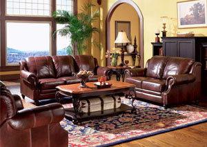 Princeton Dark Brown Tri-Tone Leather Chair,Coaster Furniture