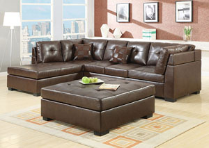 Darie Brown Sectional,Coaster Furniture