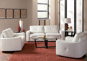 Jasmine White Sofa & Love Seat