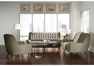 Grey Sofa, Loveseat & Chair