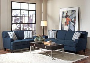 Finley Blue Sofa & Love Seat