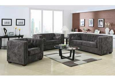 Alexis Charcoal Love Seat