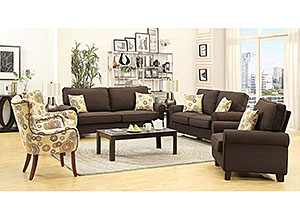 Chocolate Sofa & Loveseat